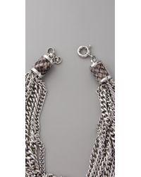 Michael Kors - Metallic Modern Opulence Chain Necklace - Lyst