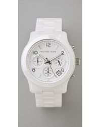 Michael Kors | White Ceramic Watch | Lyst