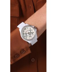 Michael Kors - White Pilot Watch - Lyst