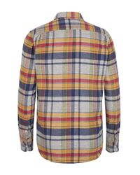 Our Legacy - Blue and Yellow Check Melange Shirt for Men - Lyst