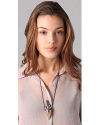 Pamela Love - Metallic Crystal Spike Necklace - Lyst