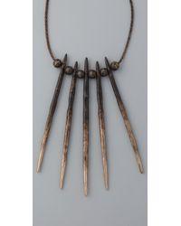 Pamela Love - Metallic Porcupine Needle Necklace - Lyst