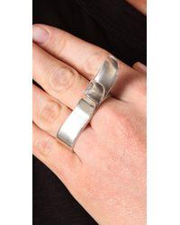 Pamela Love - Metallic Wave Ring - Lyst