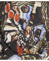 Paul Smith Black Label - Black Layered Neck Butterfly Dress - Lyst