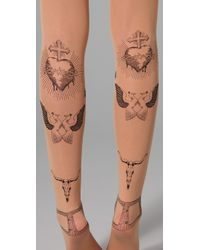Opening Ceremony Natural Tattoo Tights