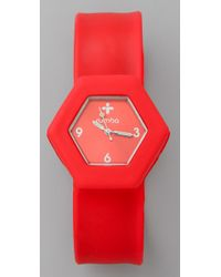 Rumbatime - Red Big Apple Slap Watch - Lyst