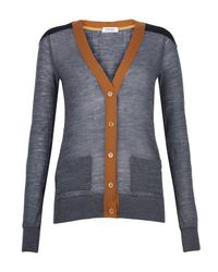 Sonia by Sonia Rykiel Gray Grey Contrast Placket Cardigan