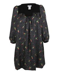 Sonia Rykiel | Blue Silk Strawberry Print Dress | Lyst