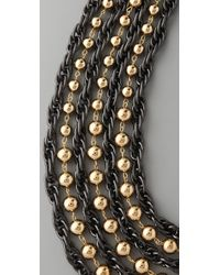 Tuleste - Metallic Ball & Chain Necklace - Lyst