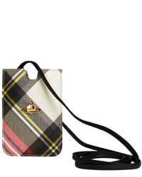 Vivienne Westwood | Gray Red Derby Tartan Iphone Case | Lyst