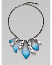Alexis Bittar | Blue Dangling Pendant Necklace Aqua Multi | Lyst