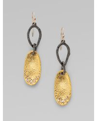 Alexis Bittar - Metallic Link & Swarovski Crystal Accented 18k Goldplated Disc Earrings - Lyst