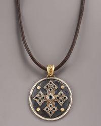 Armenta   Metallic Midnight Cross Necklace for Men   Lyst