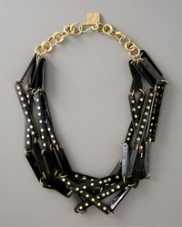 Ashley Pittman | Black Kidogo Studded-horn Necklace | Lyst