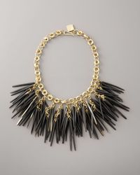 Ashley Pittman | Black Dark Horn Quill and Bronze Necklace | Lyst