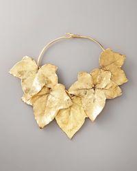 Aurelie Bidermann - Metallic Ivy Leaf Necklace - Lyst