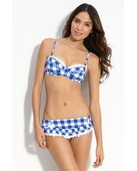 Betsey Johnson | Blue Ruffled Hipster Bikini Bottoms | Lyst