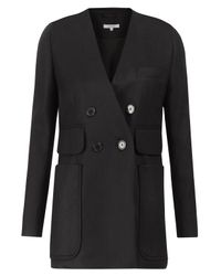 Carven | Black Collarless Suit Jacket | Lyst