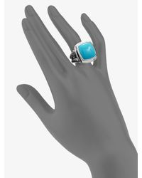 David Yurman | Turquoise & Sterling Silver Split Band Ring | Lyst