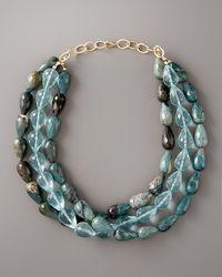 Devon Leigh - Blue Three-strand Turquoise Necklace - Lyst