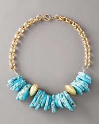 Devon Leigh | Blue Chunky Turquoise Necklace | Lyst