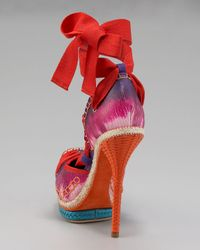 Dior | Red Tahiti Espadrille Pump | Lyst