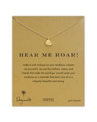Dogeared | Metallic Reminder - Hear Me Roar Lion Necklace | Lyst
