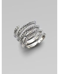 Elizabeth and James - Metallic Sterling Silver Spiral Ring - Lyst