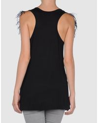 Emilio Pucci - Black Ostrich Feather-trimmed Jersey Top - Lyst