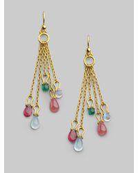Gurhan - Metallic Semi-precious Multi-stone & 24k Yellow Gold Tassel Earrings - Lyst