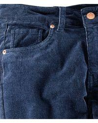 H&M - Blue Corduroy Trousers - Lyst