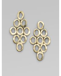 Ippolita | Metallic Glamazon Sculptural Metal 18k Yellow Gold Open Cascade Earrings | Lyst