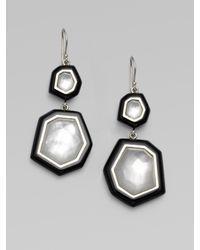 Ippolita - Black Quartz Adorned Sterling Silver Enamel Earrings - Lyst