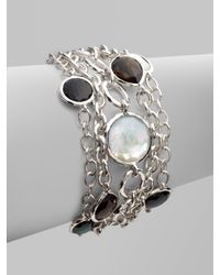 Ippolita - Gray Multi-strand, Multi-stone Sterling Silver Bracelet - Lyst