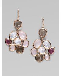 Ippolita - Pink 18k Gold Semi-precious Multi-stone Cascade Earrings - Lyst