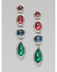 Ippolita - Metallic Clear Quartz, Morther-of-pearl & Sterling Silver Earrings - Lyst