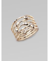 Ippolita - Metallic Diamond & Sterling Silver Ring - Lyst