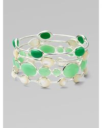Ippolita | Green Mother Of Pearl Cabochon & Sterling Silver Bracelet | Lyst