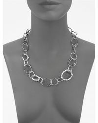 Ippolita - Metallic Sterling Silver Open Link Necklace - Lyst