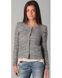 IRO | Gray Sveva Peaked Shoulder Jacket | Lyst