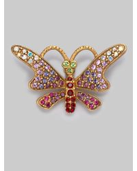 Jay Strongwater | Metallic Jeweled Butterfly Tack Pin | Lyst