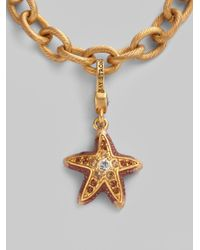 Jay Strongwater | Metallic Jeweled Starfish Charm | Lyst