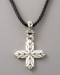 John Hardy | Metallic Classic Chain Cross Necklace for Men | Lyst