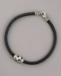 John Hardy | Black Dayak Leather Bracelet for Men | Lyst