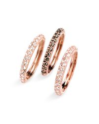 Judith Jack | Pink Marcasite Stacking Rings (set Of 3) | Lyst