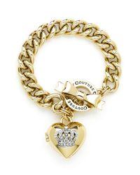 Juicy Couture | Metallic Crown Icons Heart Locket Bracelet | Lyst