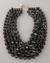 kate spade new york | Black Bead Bib Necklace | Lyst
