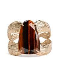 Kendra Scott | Multicolor Celeste Leaf Wrap Stone Cuff | Lyst