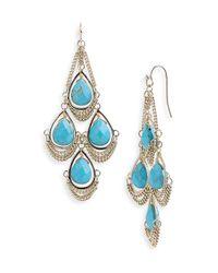 Kendra Scott | Blue Trista Stone Chandelier Earrings | Lyst
