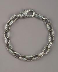 Konstantino   Metallic Paganini Cross Chain Bracelet for Men   Lyst